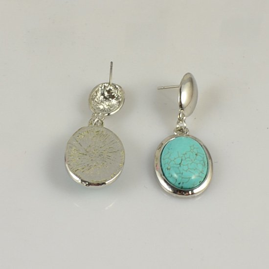 Vintage Retro jewelry turquoise drop earring  E032