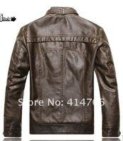 Мужские изделия из кожи и замши Brand motorcycle genuine leather clothing, men's leather jacket, 2013 new fashion