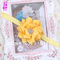 Детские ободки Цветочница лентой износа головок кристалл цветок фотографии Проп упругой оголовье