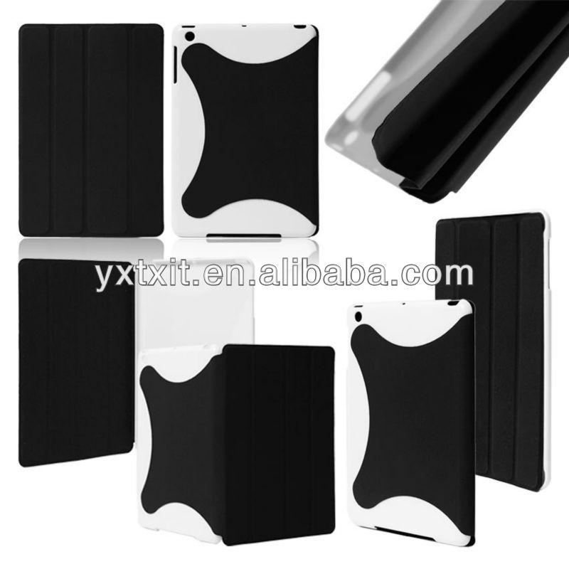 New design book leather case for ipad mini