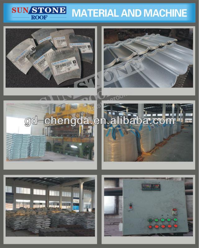 galvanised roofing sheet in asphalt appearance