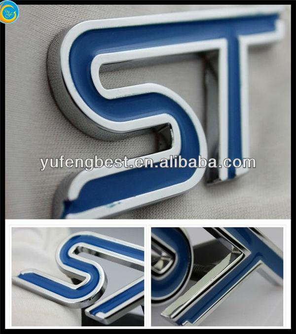 Emblema de cristal, letras de metal para o emblema do carro, mão bordado emblema maçônico