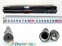 лазерная указка High Power 1000MW Blue laser pointer+5 * laser heads of flashlight+ glasses+Battery+Gift box DHL