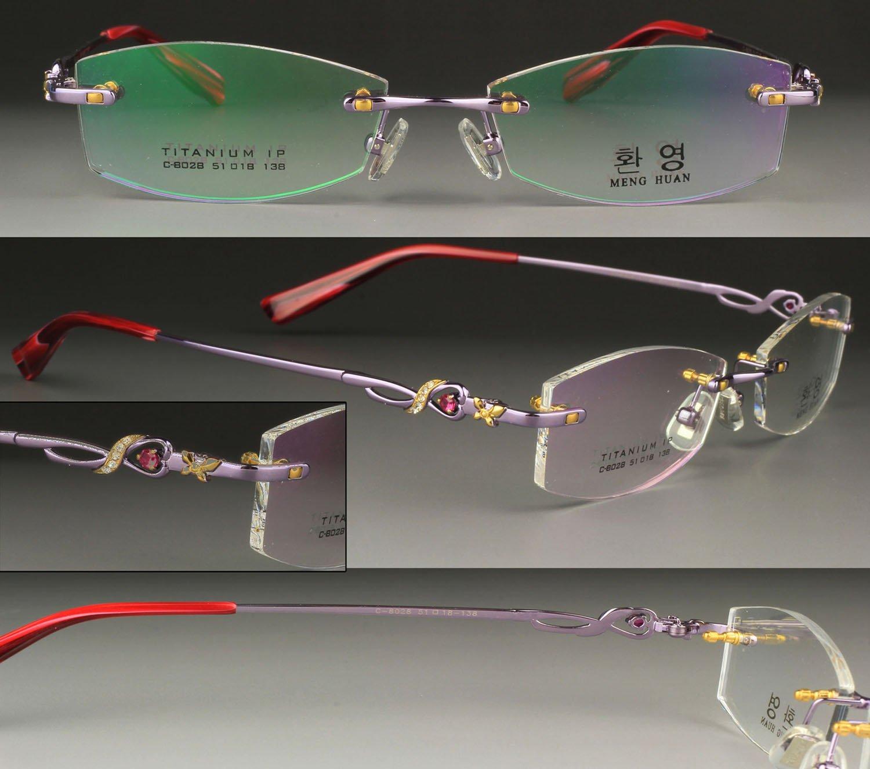 Rimless Glasses More Attractive : Attractive Diamonds Rimless eyeglasses frame (C 8028)/ no ...
