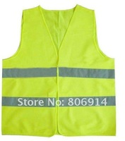 Free shipping retail durable & cheap high light green Reflective Safety Vest highly visible vest
