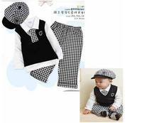 Комплект одежды для девочек College Wind Kids gentleman male Tong Gezi pants 4 piece cap + shirt + tie + trousers baby sets