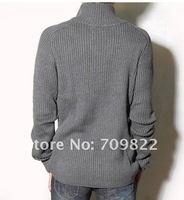 Мужской кардиган 2012 Selling brand men sweater cardigan sweater stand-up collar diagonal zipper jacket sweater