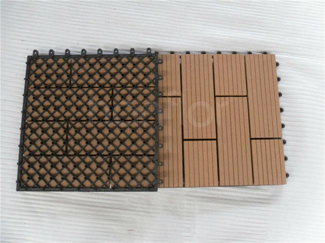 Bloqueio telha de madeira decks