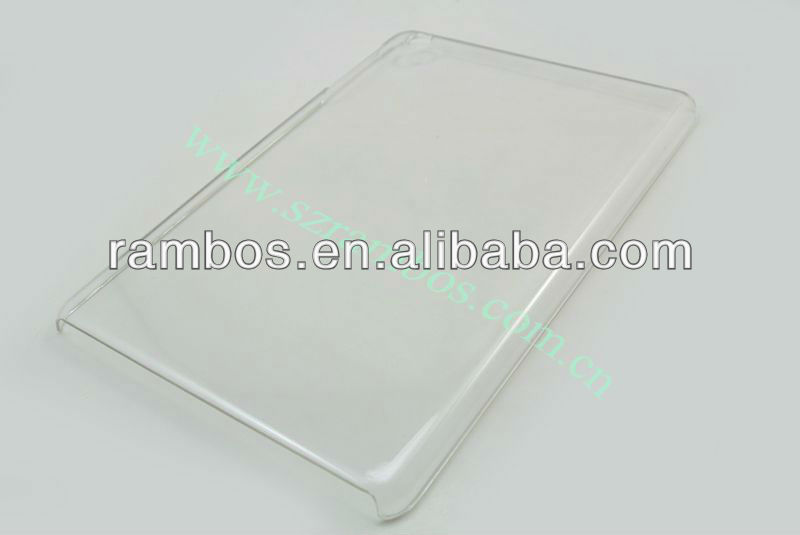 For iPad mini transparency clear hard back case