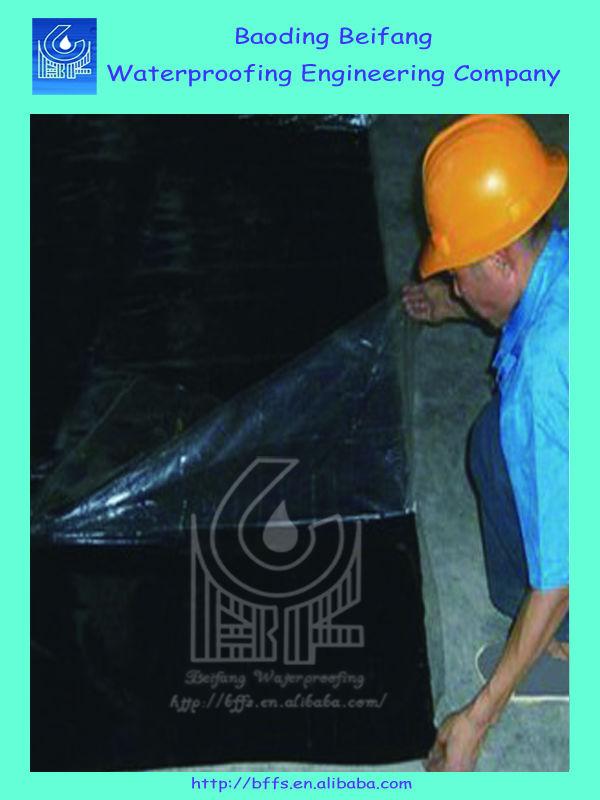 SBS bitumen PE 3mm asphalt self adhesive for roof waterproof