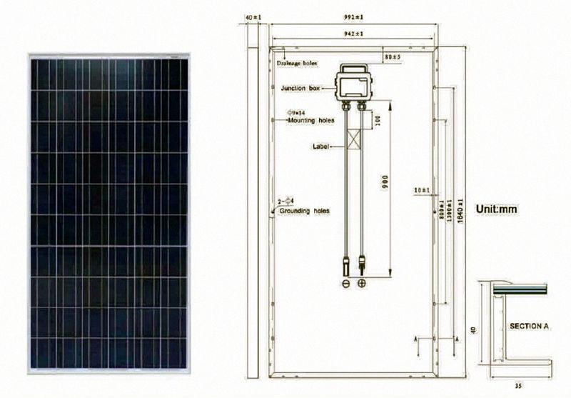 Pv Solar Panel/ Solar Module 230w-250w Certificated TUV/CE/IEC/CEC with Cheap solar panel Price