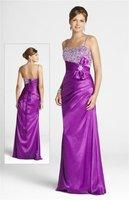 Платье для подружки невесты Custom Made 2012 Purple Bridal Bridesmaid Wedding Gown Prom Ball Evening Dress Hot sale
