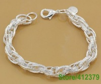 GY-PB014 Free Shipping Wholesale Jewelry Fashion Bracelets Factory Price 925 Silver Bracelets cmeald matuua
