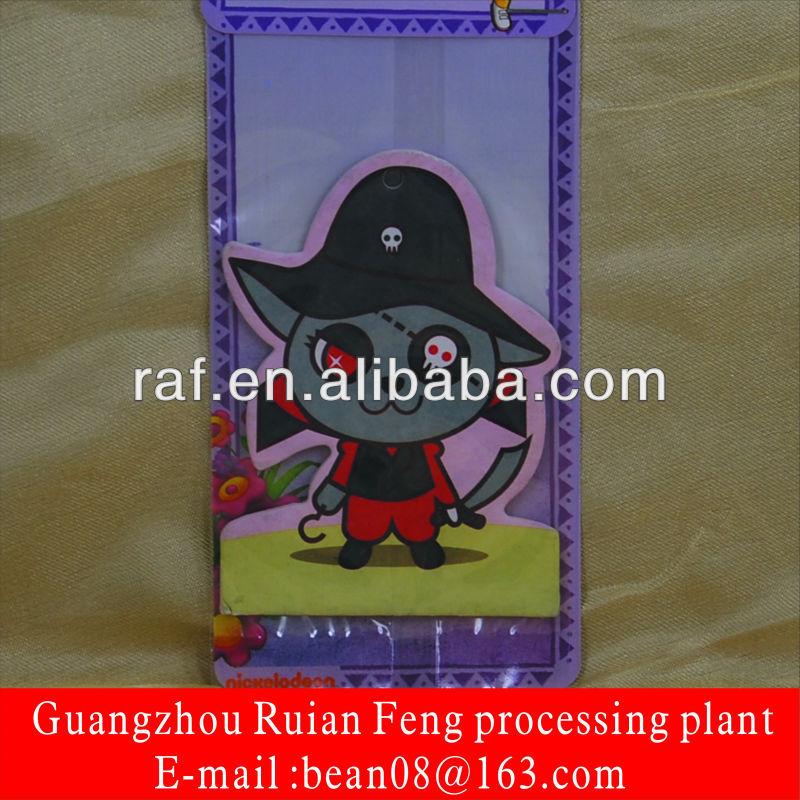 Hanging Customized Paper Air Freshener with Fragrance, Custom Shape Paper Car Freshener