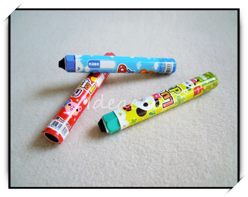 Free shipping/wholesale/eraser/Pen Rubber/Lovely Pencil Shaped/Cartoon/Fancy Office Eraser/children/student/kid's gift(QS-009)