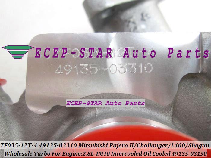TF035-12T-4 49135-03130 49135-03310 turbo turbocharger For Mitsubishi Pajero IIChallangerL400Shogun Intercooled 2.8L 4M40 (2)