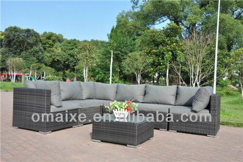 7pcs rattan outdoor furniture with aluminium frame