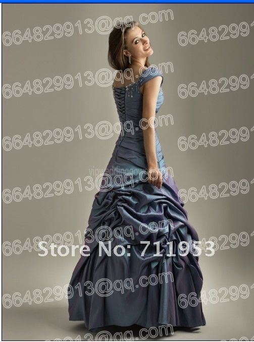 The Soft and romantic shimmering taffeta fabric prom dress