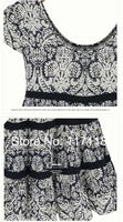 Women dresses 2014 new fashion summer print dresses short sleeve O neck dresses 5xl plus size women