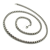 Колье-цепь Silver Boy's 316L Stainless Steel Men's Chain Fashion Jewelry Necklace Gift