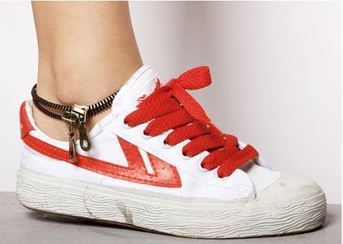 Infinite Originality 2014  Retro Double Layers Молния Anklet (Bronze) B153