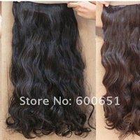 волос расширение женщин длинные curl/фигурные/волнистые 5 клипы на сексуальный стильный черный коричневый 4 # w002
