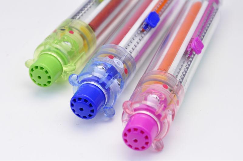 6 colors rotating crayon,kids'crayon,animal crayon
