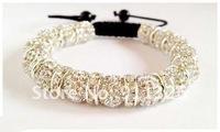 Shamballa Style Bracelet 15 Rhinestone Disco Ball Beads