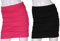 Short Skirt Sexy Stretch Candy Colours Mini Skirt With Side Zip Free Size Free Shipping W1203