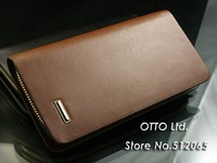 Кошелек long style man's wallet with zipper+cowhide/Genuine leather purse+retail or 2012 GP002