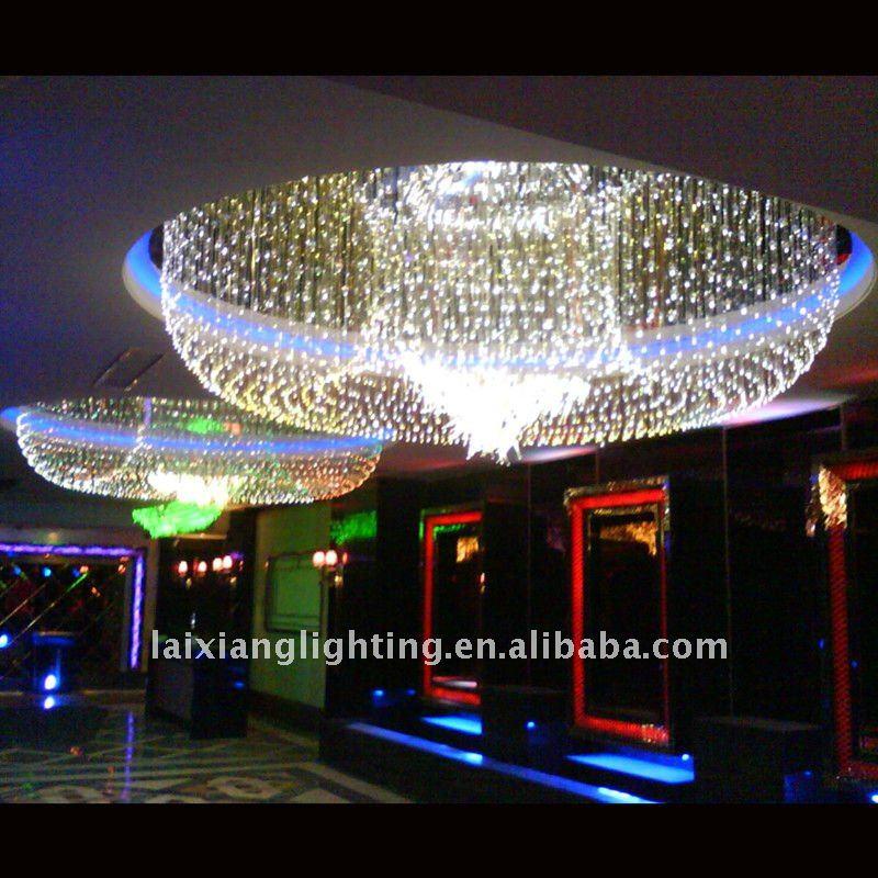 Fibre optique plafond 2013 grand lustre moderne lumi re for Plafond en fibre optique