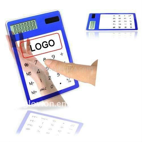 2012 hot solar transparent calculator transparent solar powered touch screen calculator touch screen transparent calculator