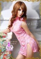 Сексуальная ночная сорочка Sexy lace pink lingerie cheongsam Underwear Sexy one size S8586 Sleepwear, Underwear, Uniform, Kimono Costume