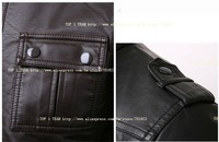 Classic Men's PU Leather Coat 2 Colors Cultivate one's morality short fur free shopping Y4012