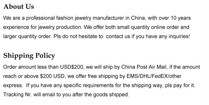 1about and shipping