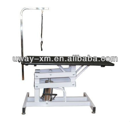 Newest Professional-Style Z-Lift Hydraulic Pet Grooming Table w/ Arm & Loop