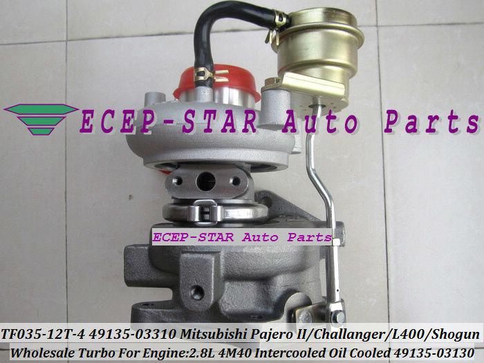 TF035-12T-4 49135-03130 49135-03310 turbo turbocharger For Mitsubishi Pajero IIChallangerL400Shogun Intercooled 2.8L 4M40 (5)