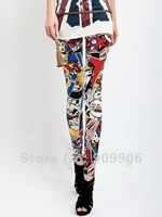 Women Cartoon Girl Leggings Tights Legwear Pants Fashion