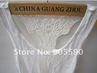 Korea Women's Tank Top Shirt Hollow-out Vest Waistcoat Camisole Pierced lace free shopping 3110