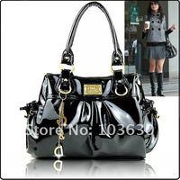 Вечерняя сумка 2013 Fashion design ladies patent pu leather bags, women casual handbag, hot sale vintage shoulder bags, 2 colors DG