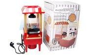 free shipping by CPAM diy mini carriage shape nostalgic hot air popcorn machine poper pop corn maker with EU plug red