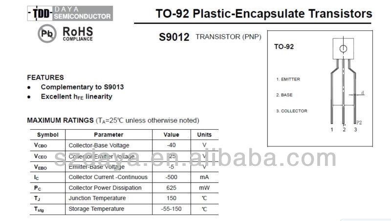 DIP/SMD Transistors S9012 S9014 S9018, View DIP/SMD Transistors ...