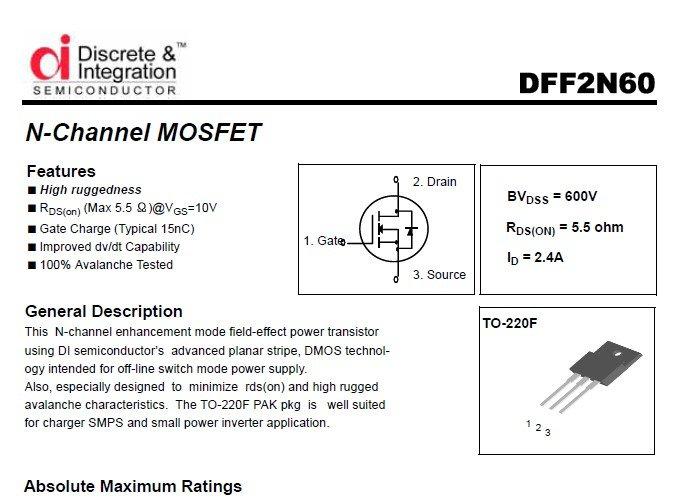 Mosfet 2N60