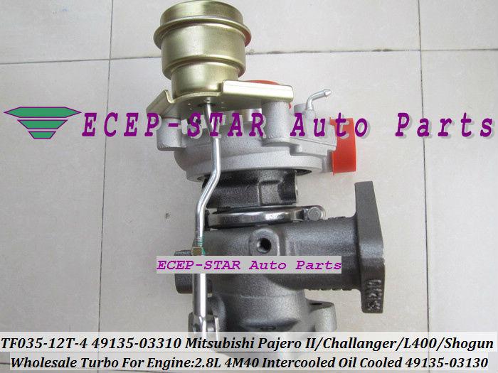TF035-12T-4 49135-03130 49135-03310 turbo turbocharger For Mitsubishi Pajero IIChallangerL400Shogun Intercooled 2.8L 4M40 (6)