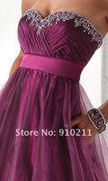 2012 Hot Sale Free Shipping 2012 Best Selling Custom Made Empire Organza Formal Evening Dress