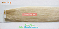 "18"" Lila Tape Skin Hair Extensions Remy 40g-pcs Skin Weft Human Hair Extension silky soft Straight"