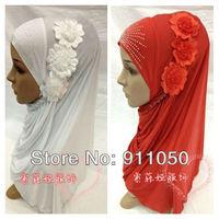 Мусульманская одежда HJ102# 2013 flower fashion design, muslim hijab, muslim shawl, muslim scarf, muslim fashion, islamic hijab&cap