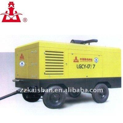 Venda quente! a Diesel portátil parafuso compressor de ar 250psi
