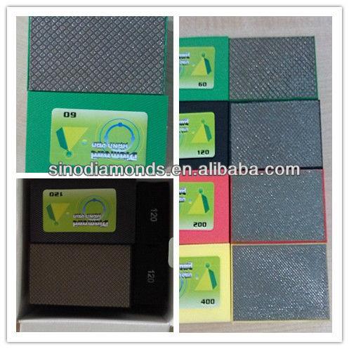 Block type Diamond hand polishing pad for floor