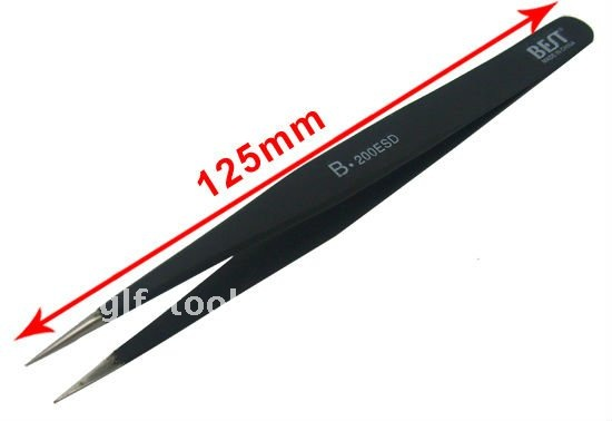 Eyelash Extension Tweezers, Eyelashes Extension Tools, Matte Black EyeLash Tweezers